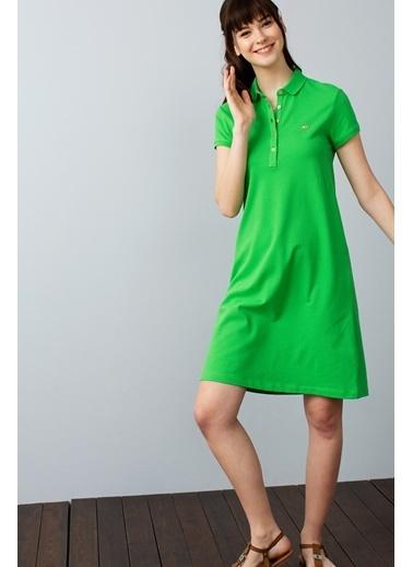 U.S.Polo Assn. Kısa Kollu Elbise Yeşil